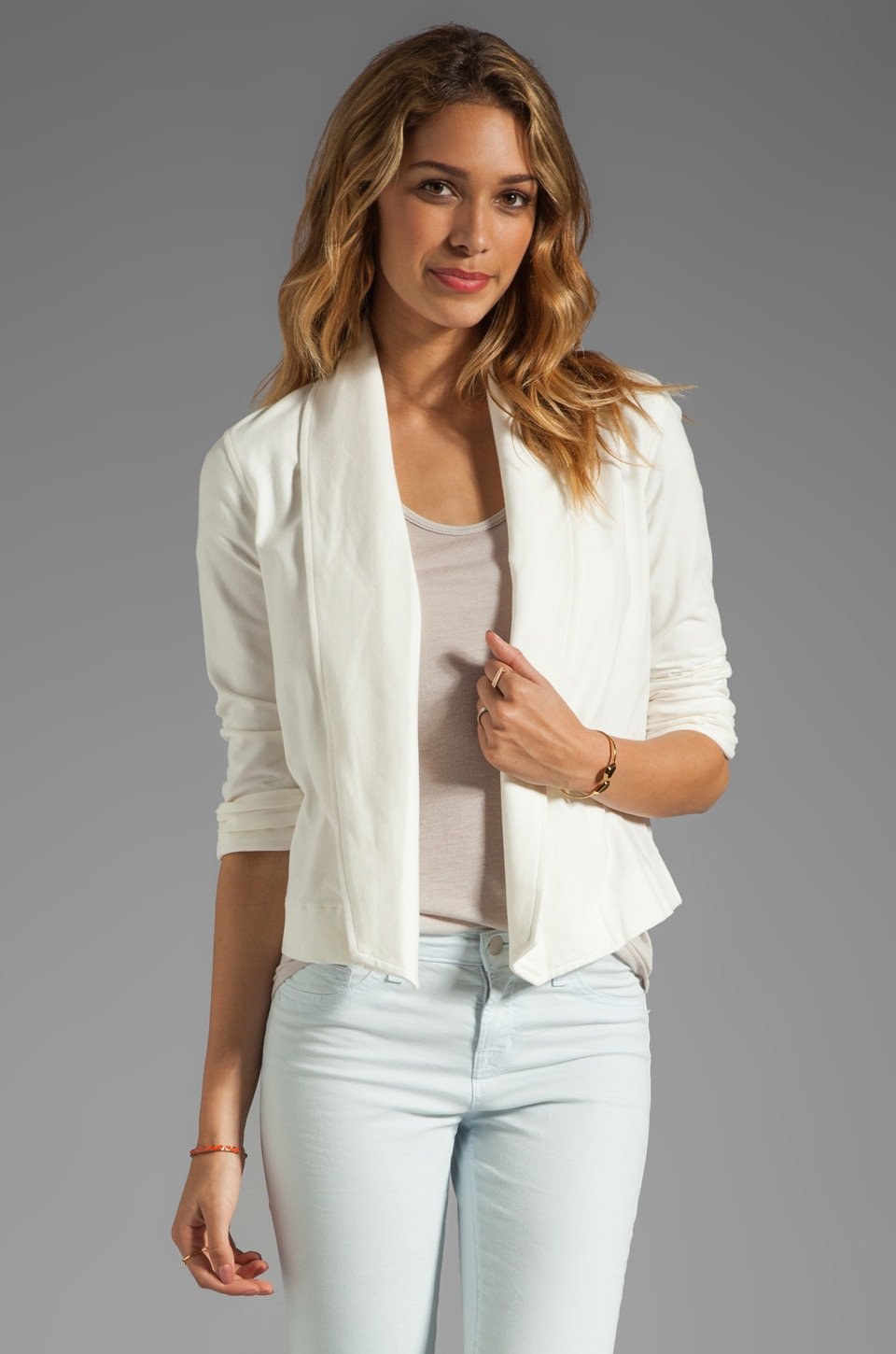 Theory Ode Ashbey B Jersey Blazer in White