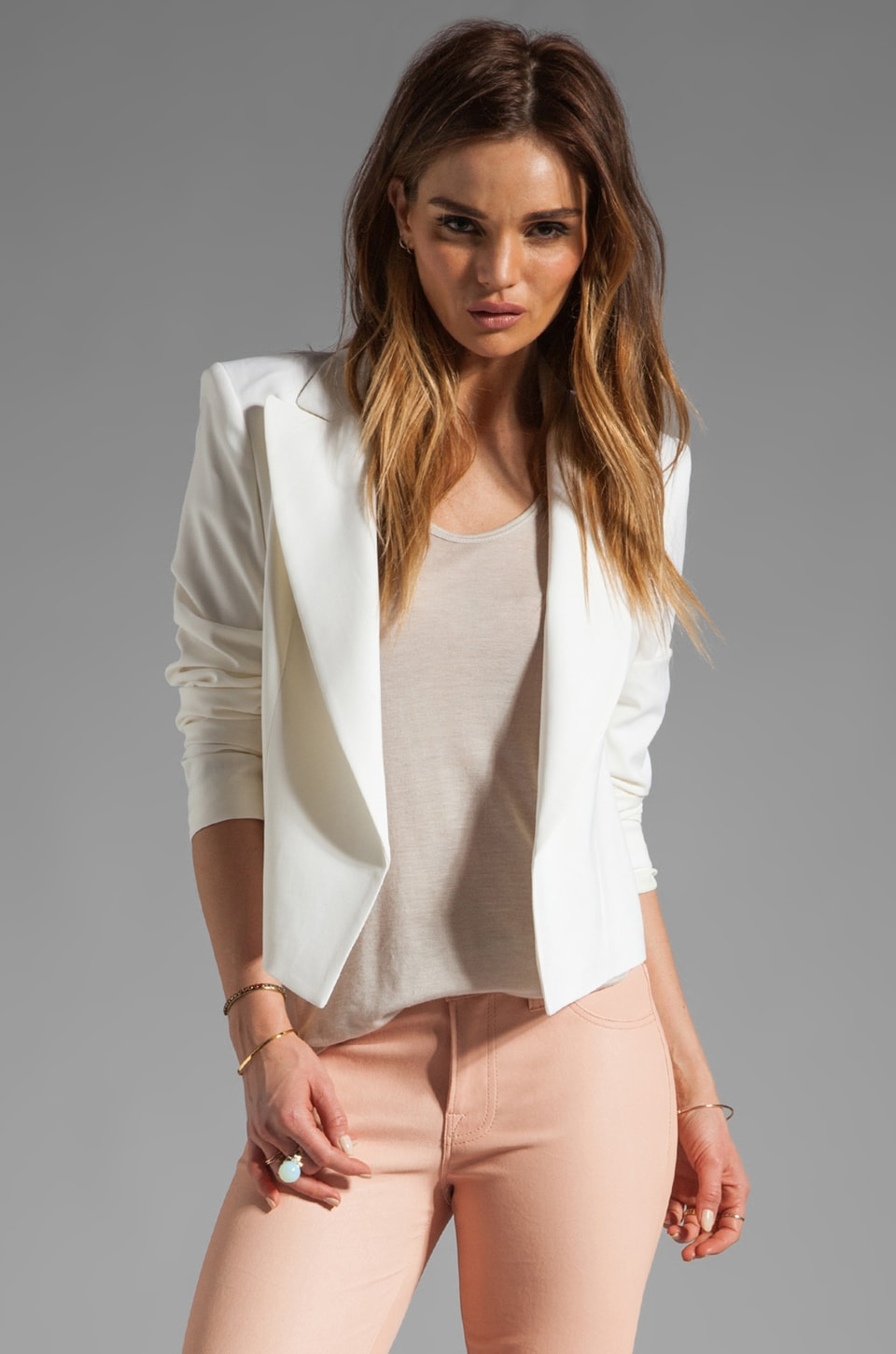 Theory Bistretch 2 Joji Twill Blazer in Caledon White