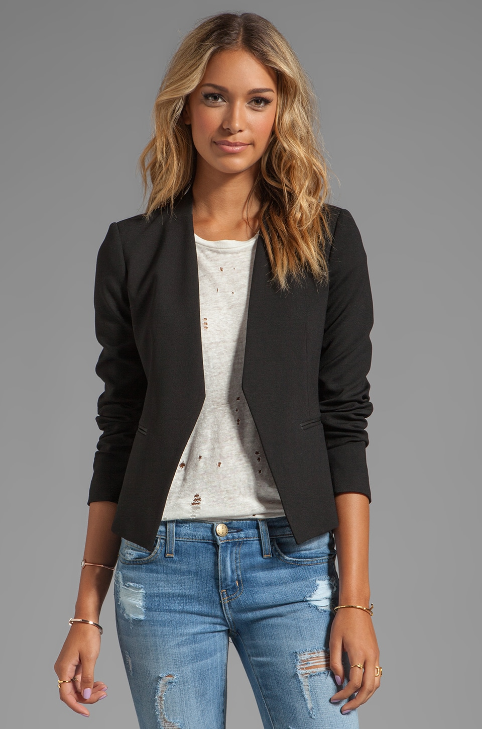 Theory Lanai LCK Blazer in Black