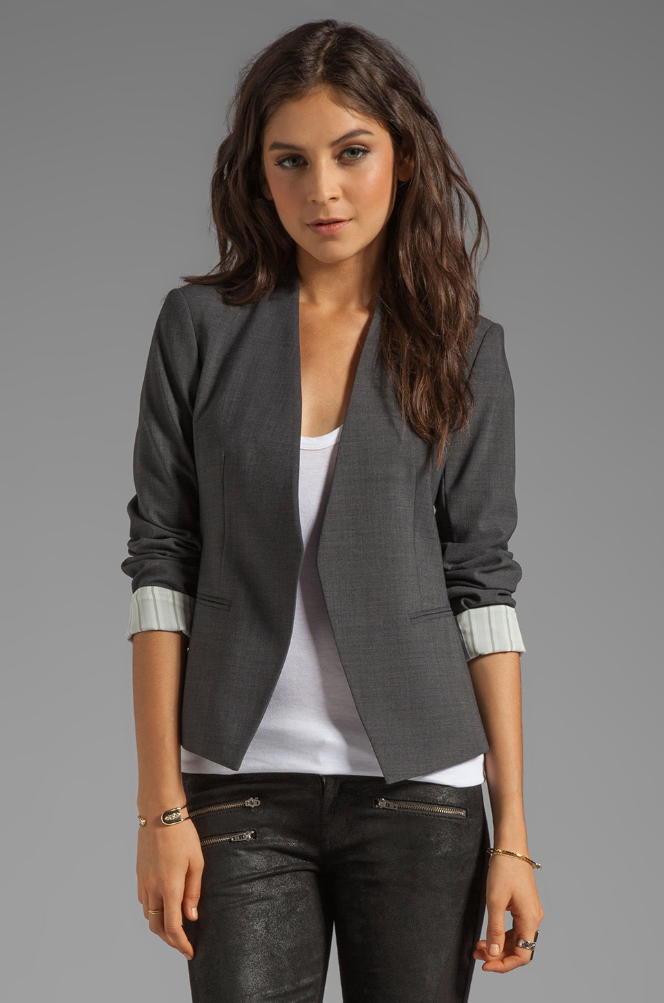 Theory Lanai Blazer in Charcoal
