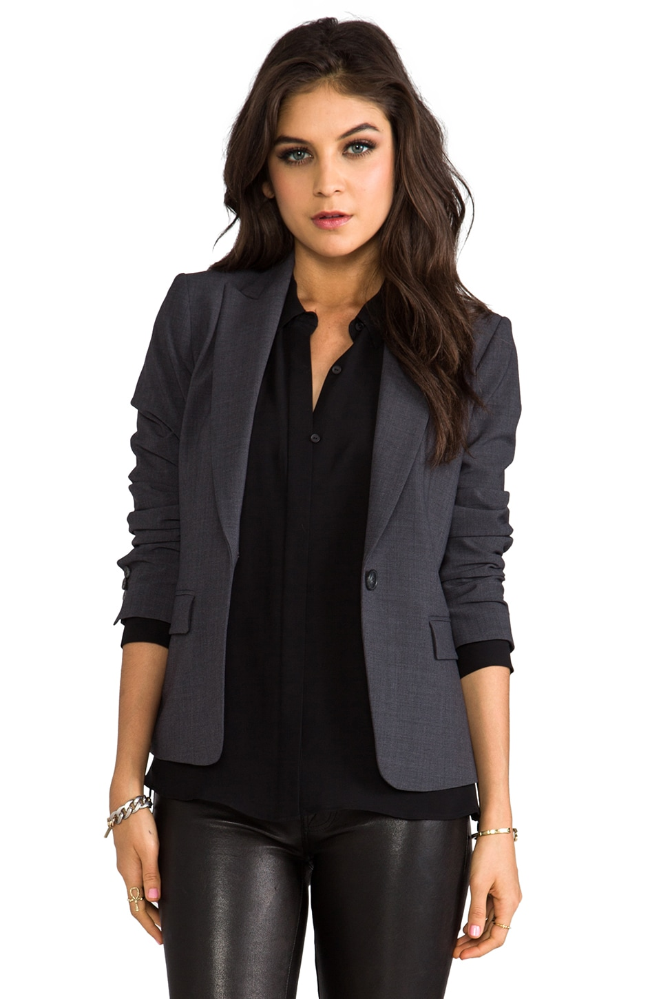 Theory Gabe 2 Blazer in Charcoal