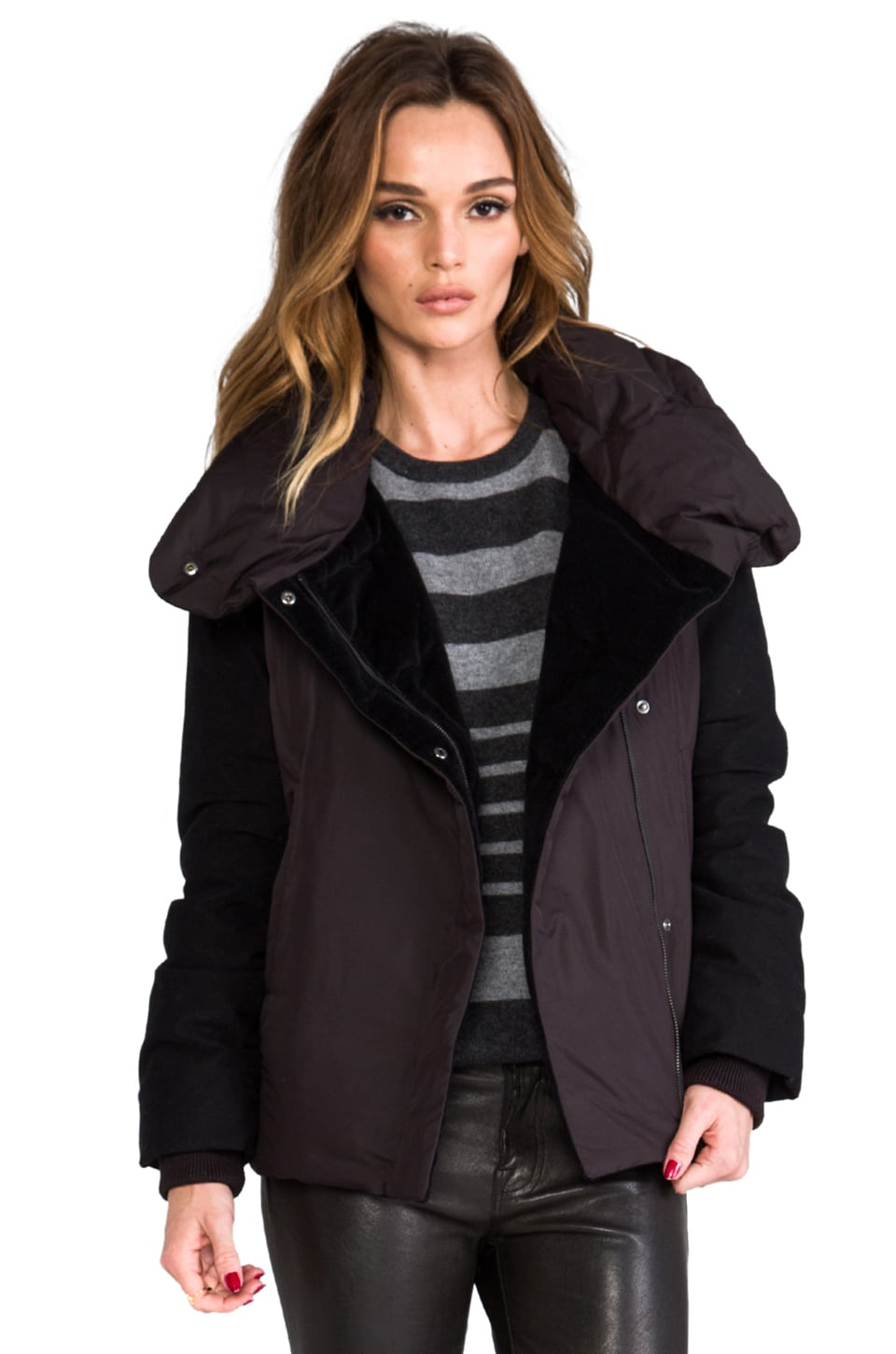 Theory Brio Puffer in Black