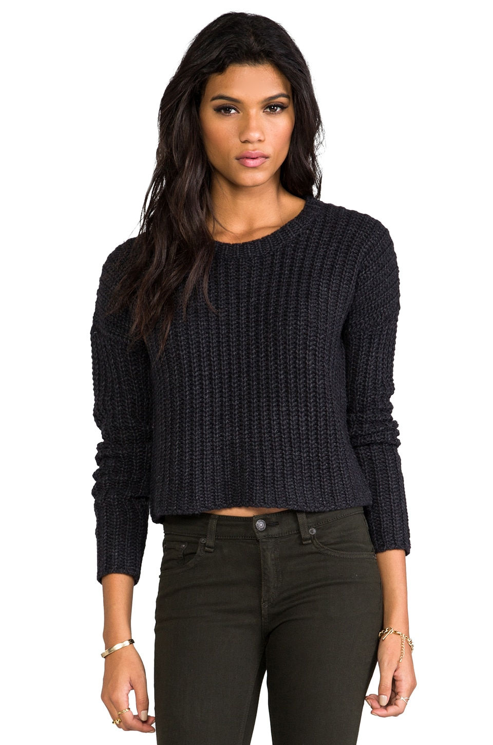Theory Jentra Sweater in Charcoal