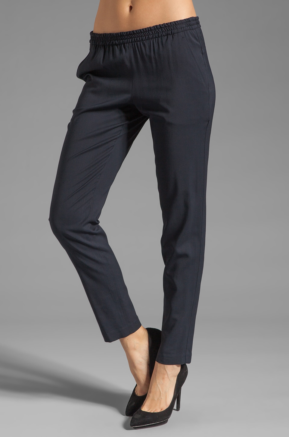 Theory Malaya Katla Pant in Dark Navy