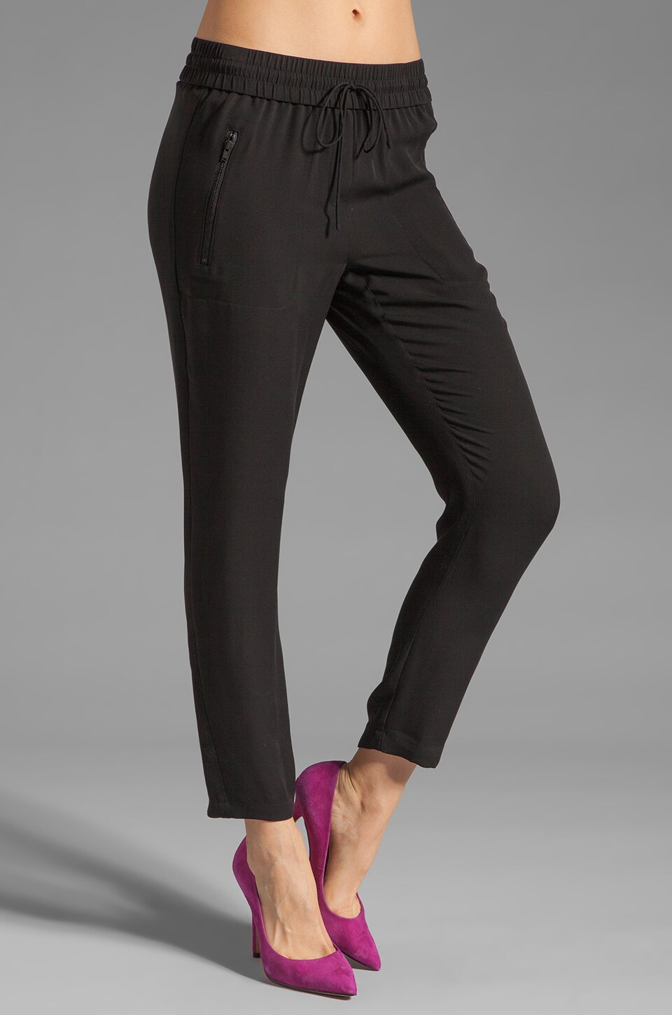 Theory Double Georgette Malick Pant in Black