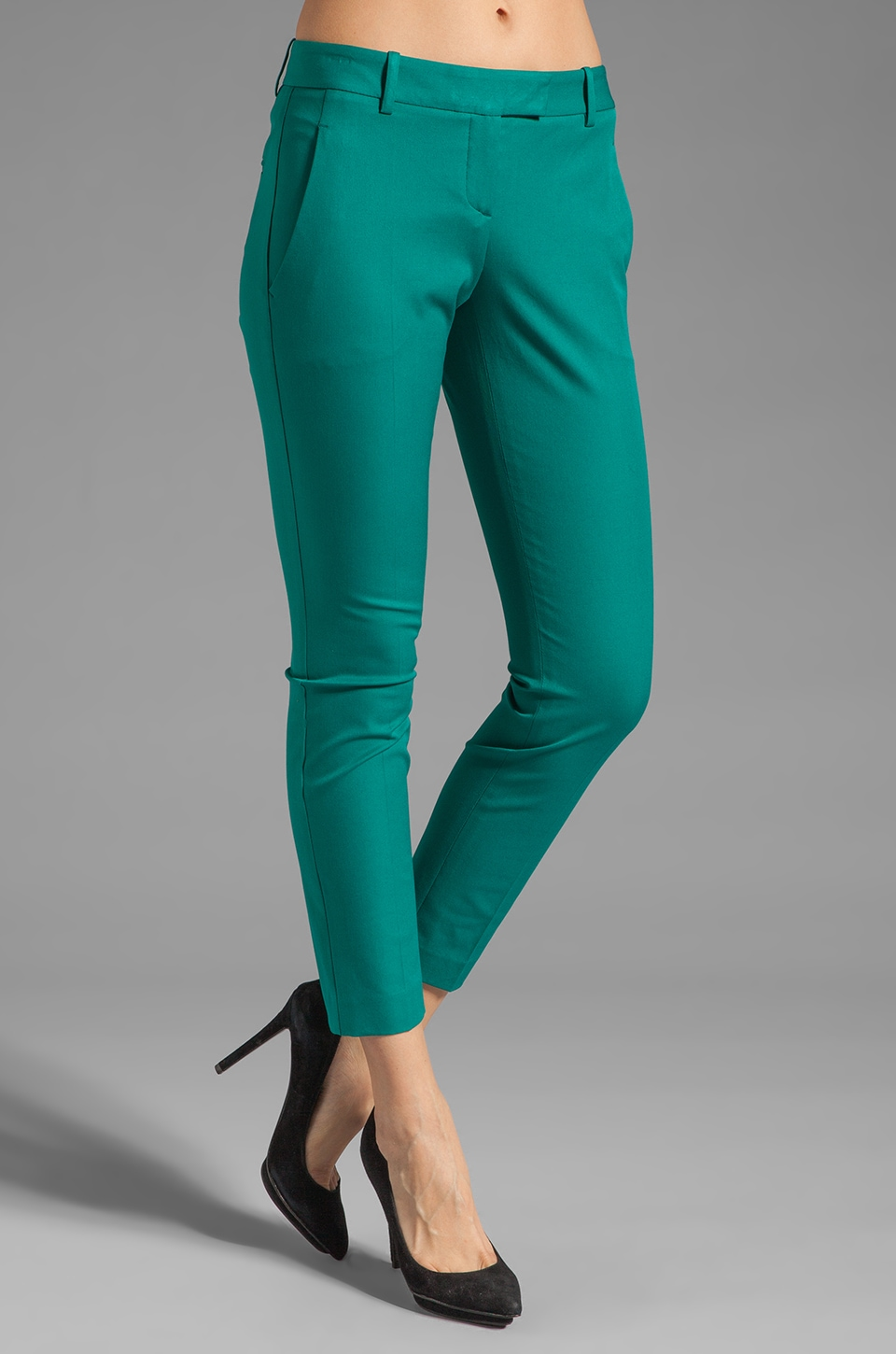 Theory Sienna Bistretch Pant in Teal