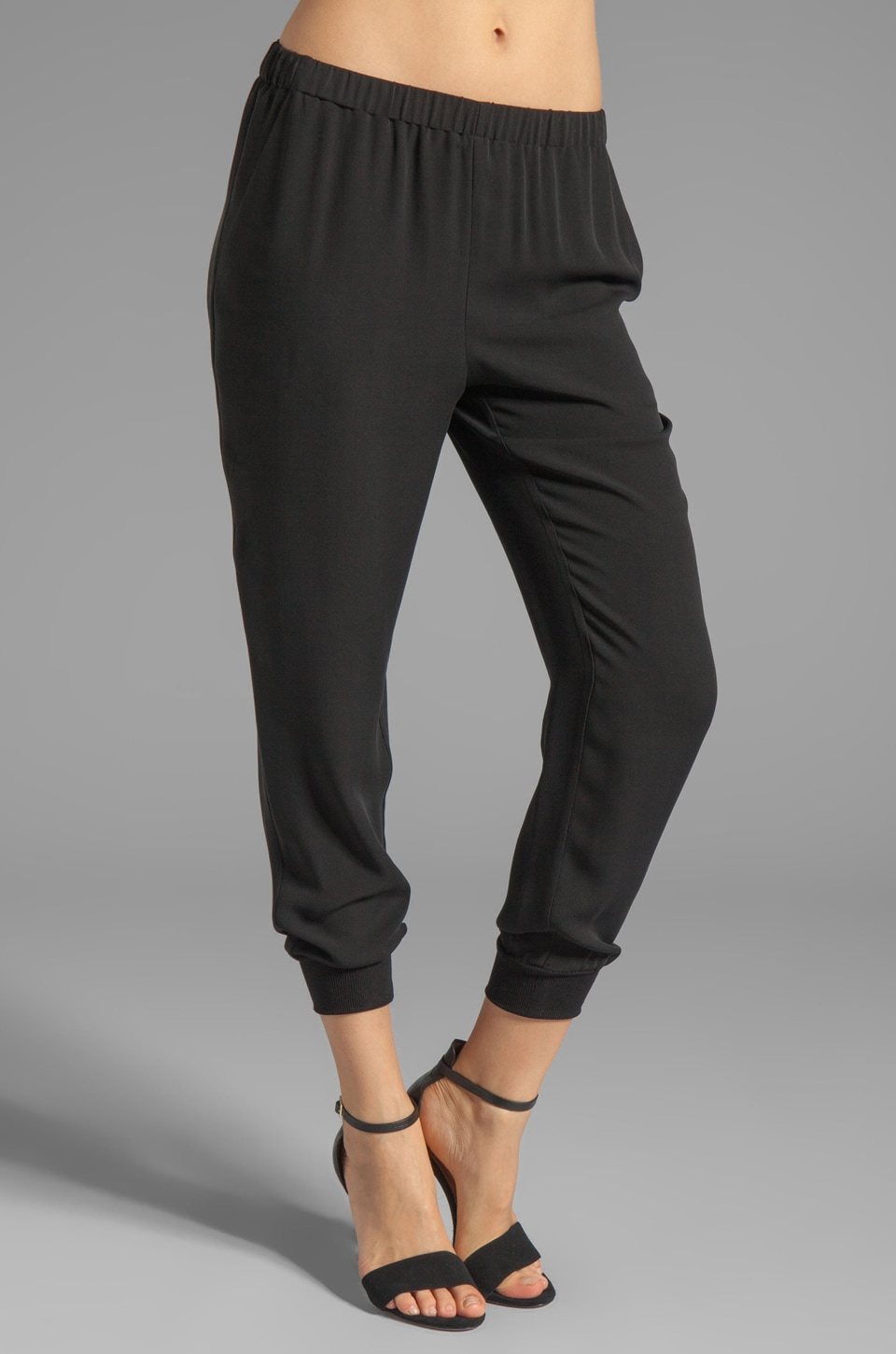 Theory Arai Silk Pants in Black