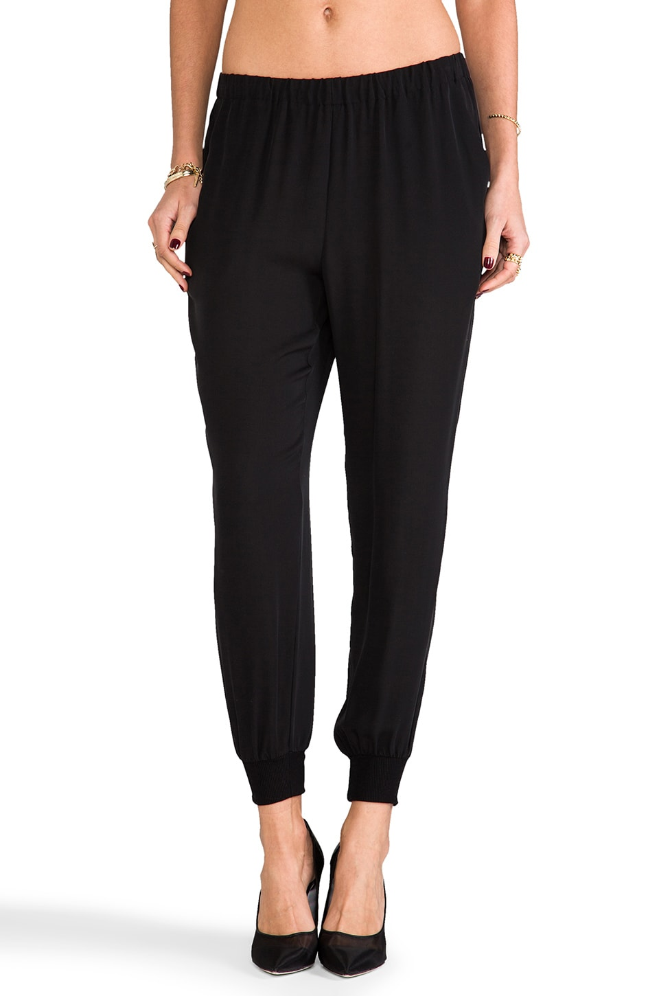 Theory Double Georgette Arai Pant in Black