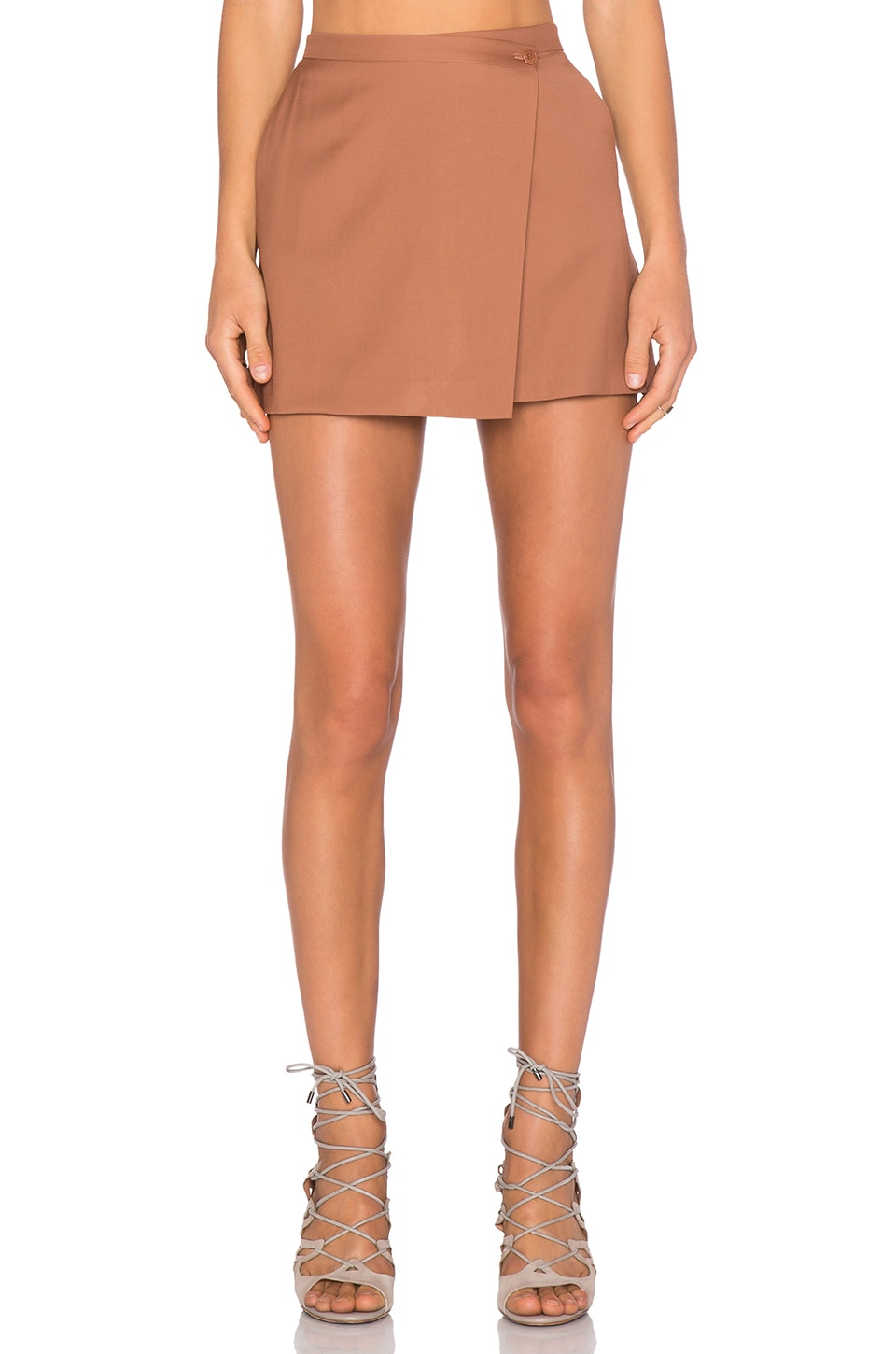 Theory Kirti Skirt in Terracotta