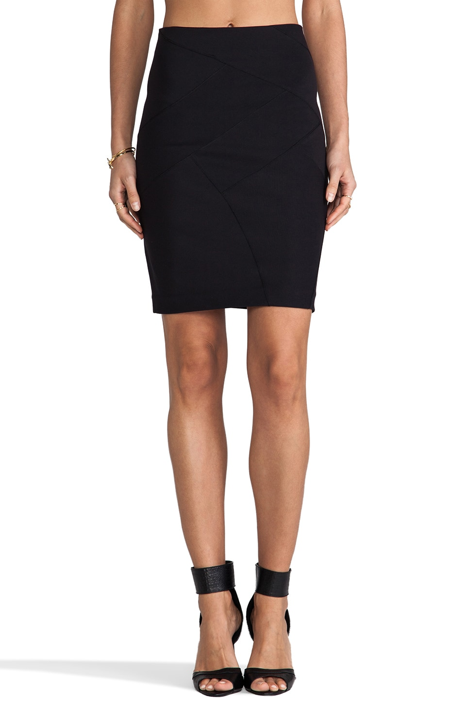 Theory Reddy Stretch Rib Skirt in Black