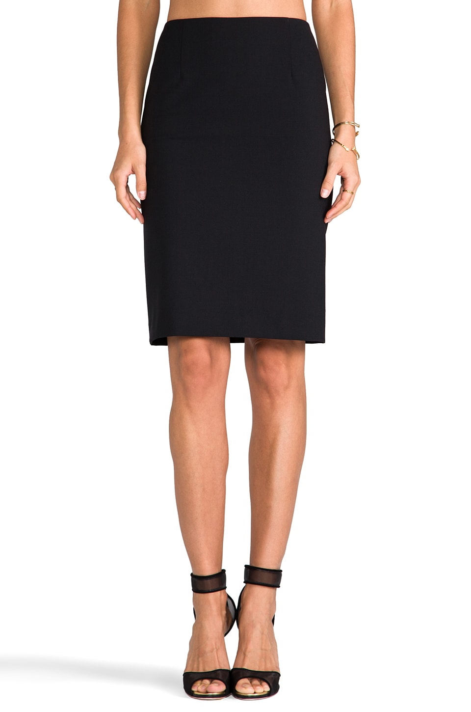 Theory Golda 2 Pencil Skirt in Black