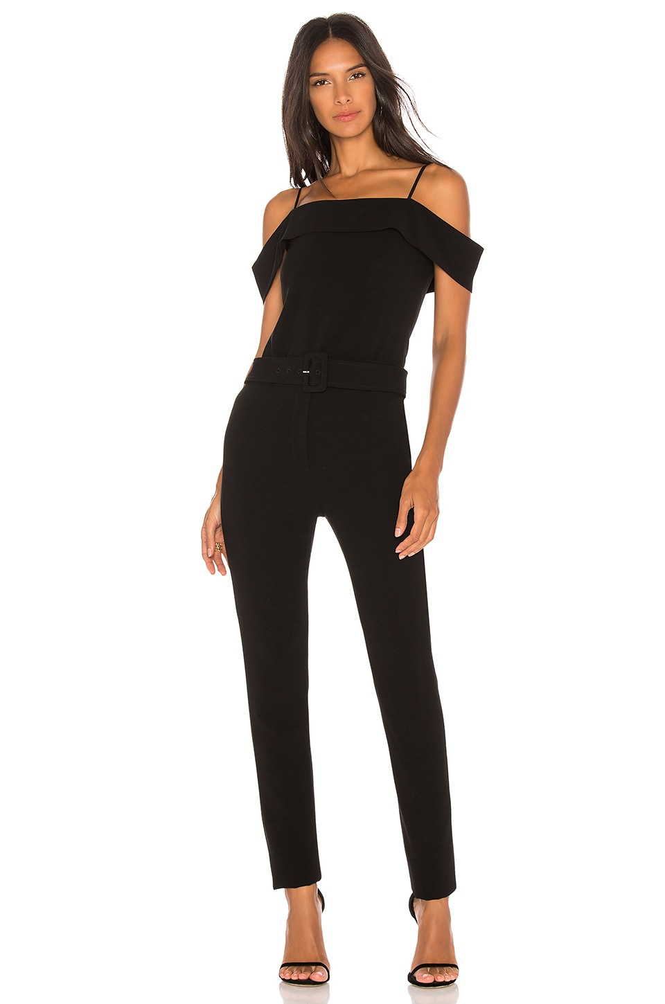 Theory Cold Shoulder Jumpsuit in Black