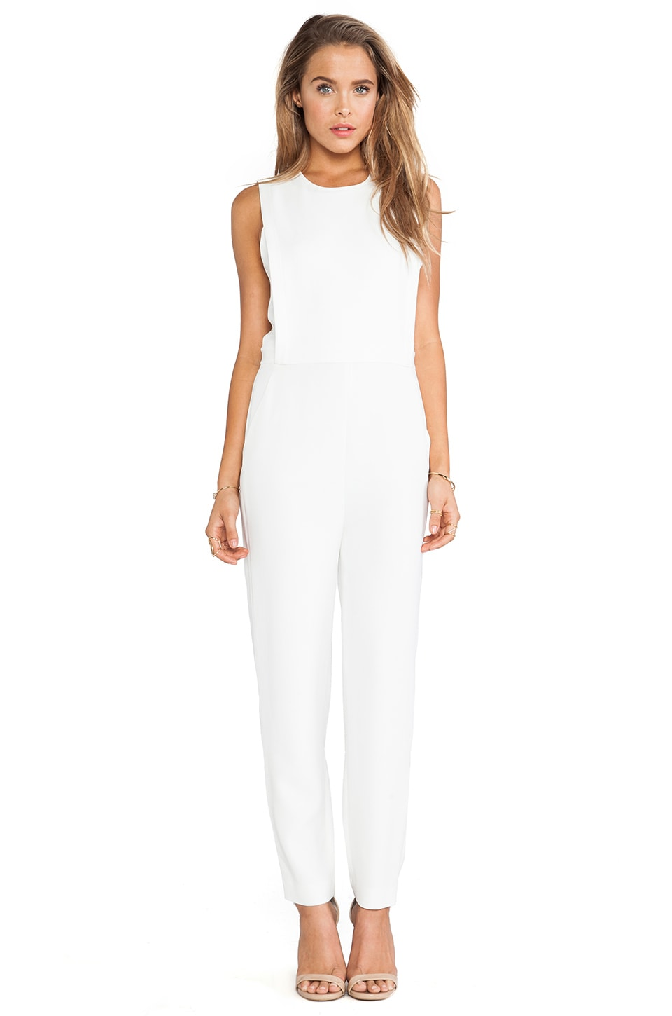 Theory Remaline Jumpsuit in Off White