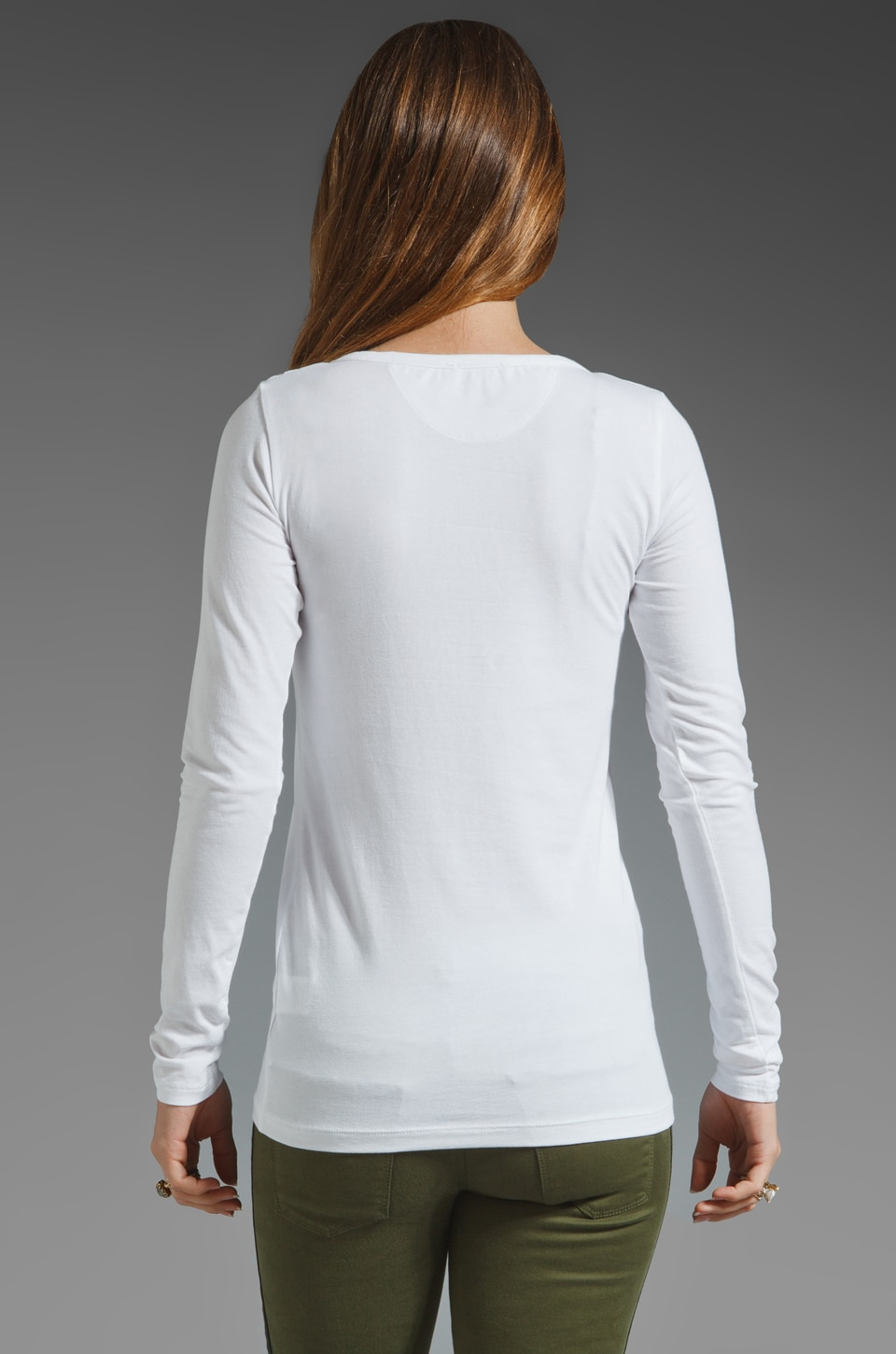 Theory Encase Brioan Top in White