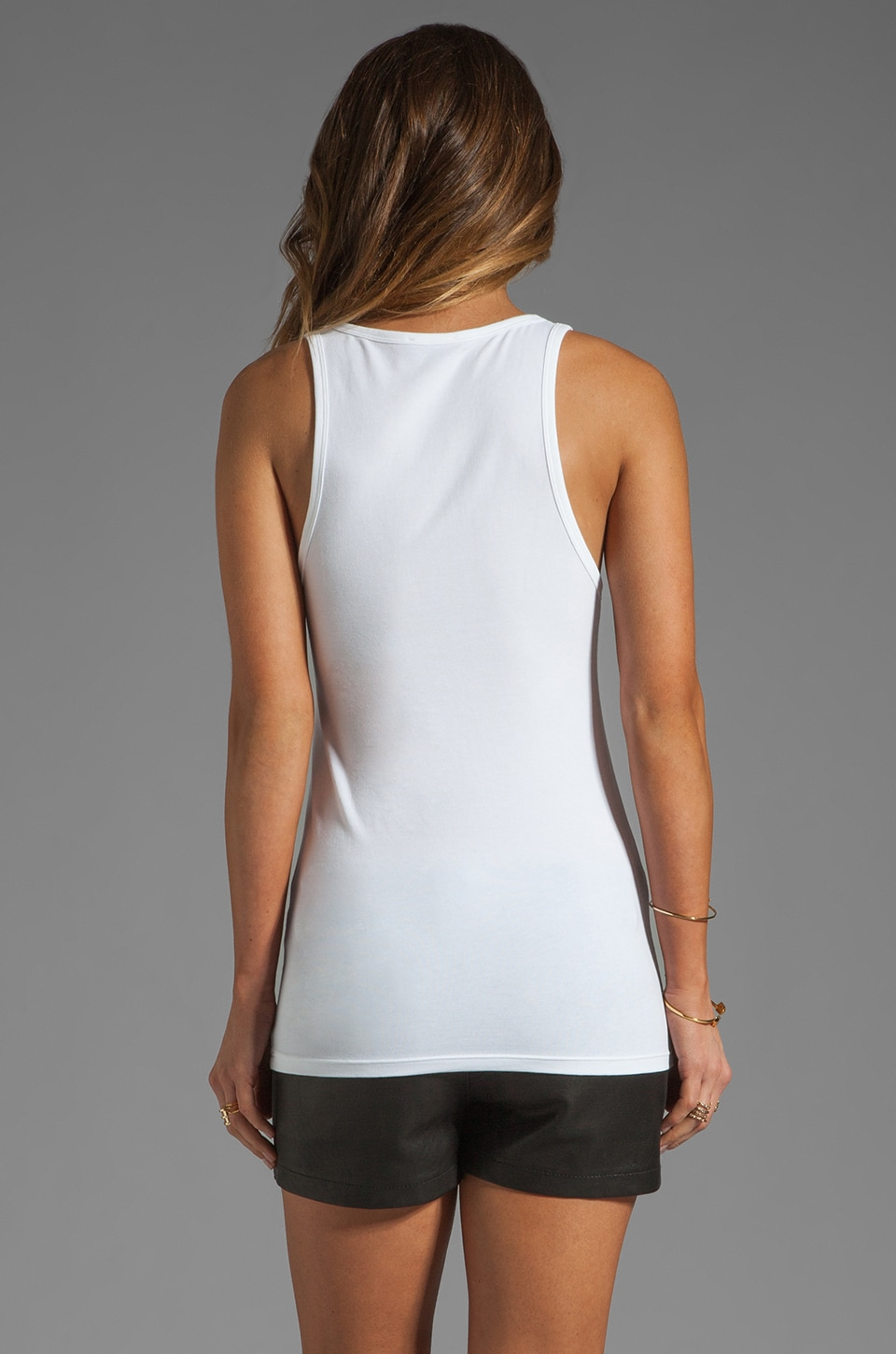 Theory Encase Jiante Tank in White