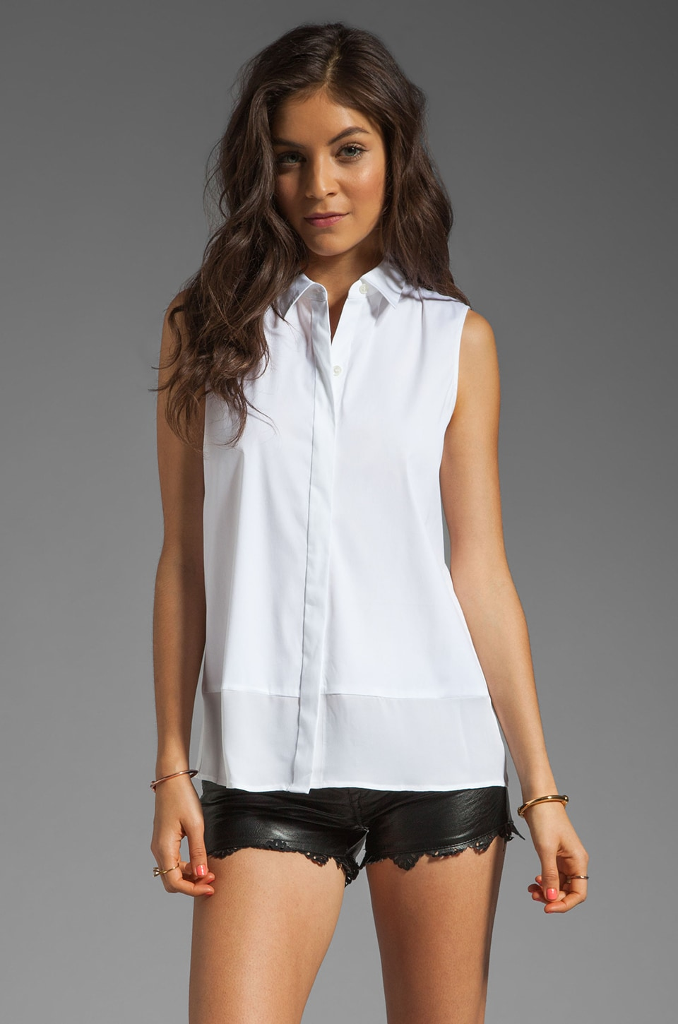 Theory Luxe Marlee Double GGT Combo Top in White