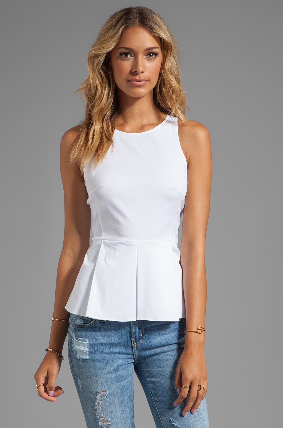 Theory Fif T Tank in White