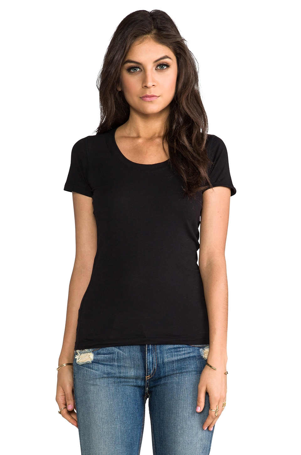 Theory Juin 2 Tee in Black