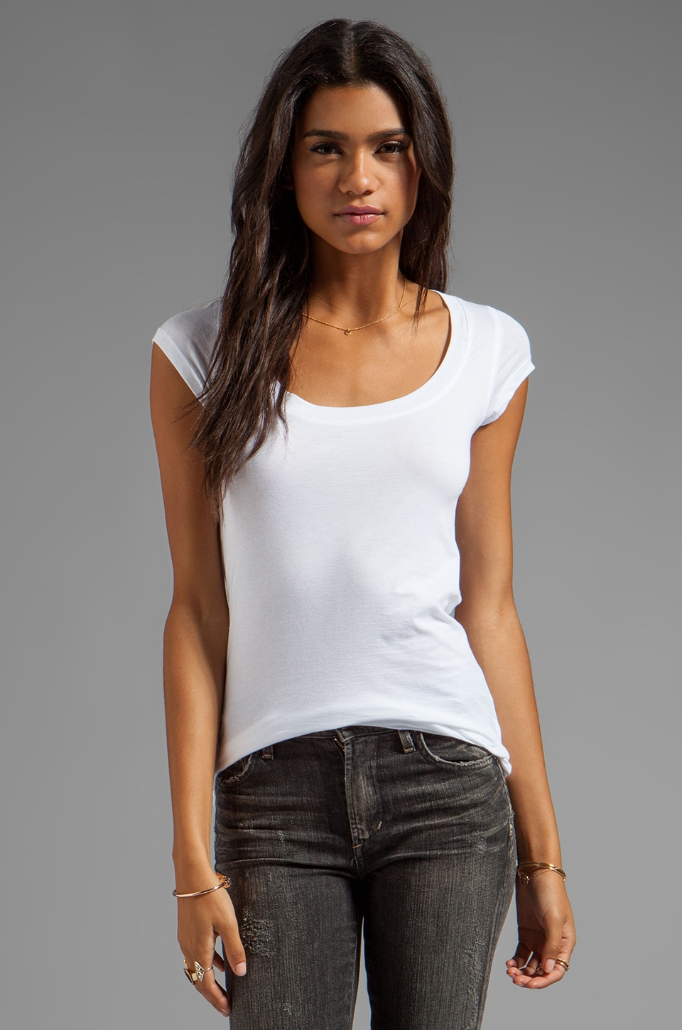 Theory Juin 2 Tee in White