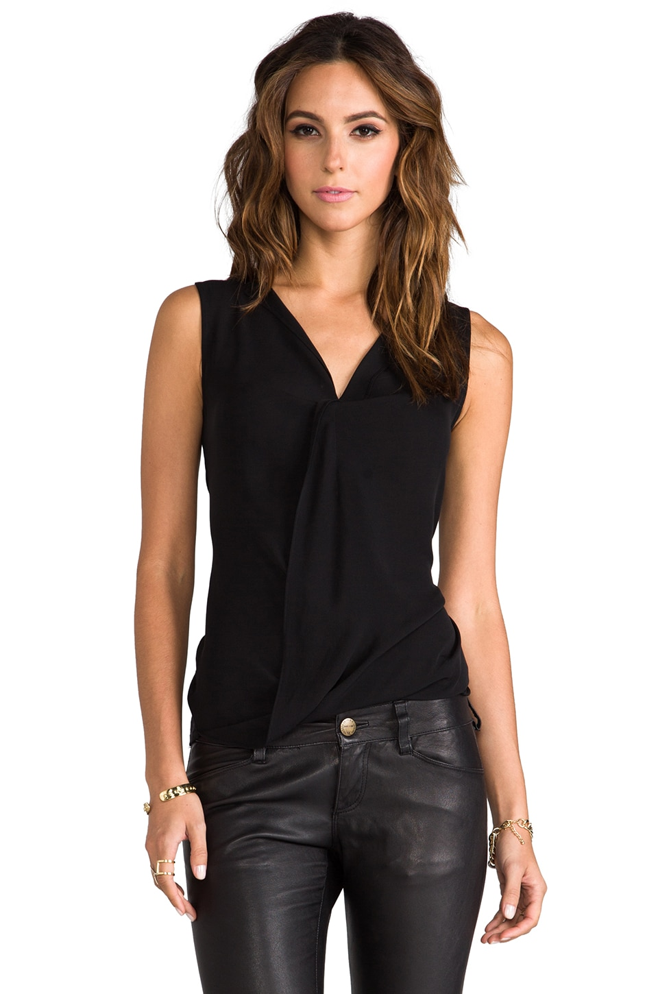 Theory Parlier Sleeveless Blouse in Black