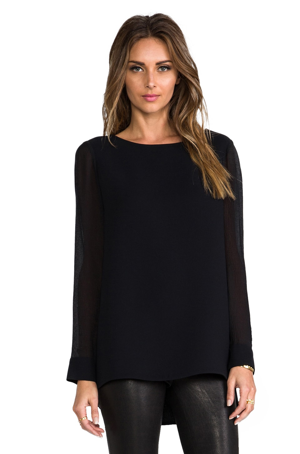 Theory Changement Toska Top in Black