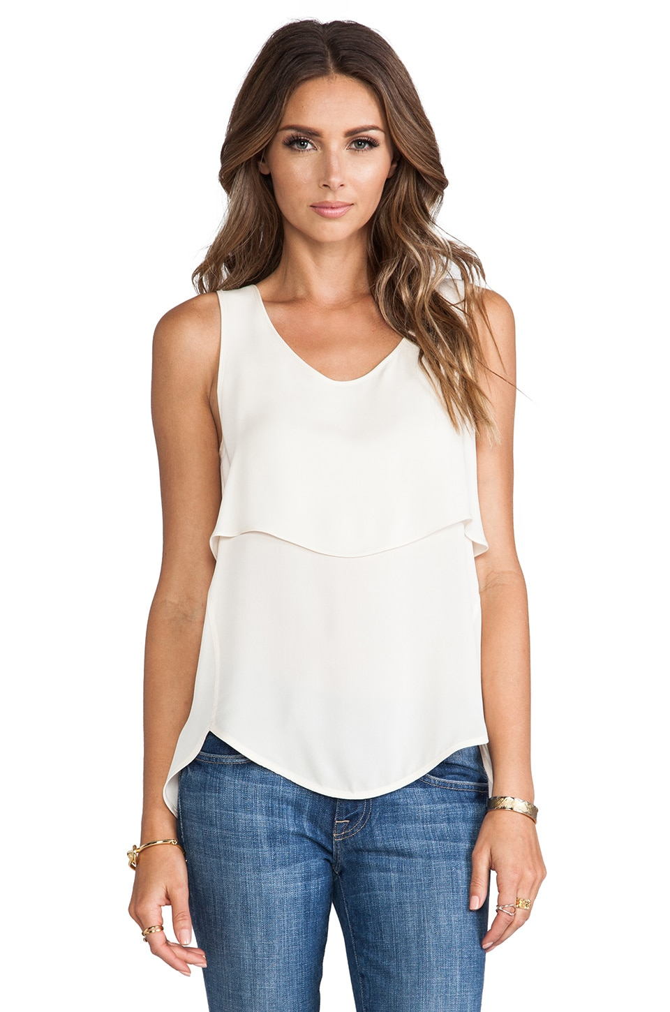 Theory Apala Tank in Ivory