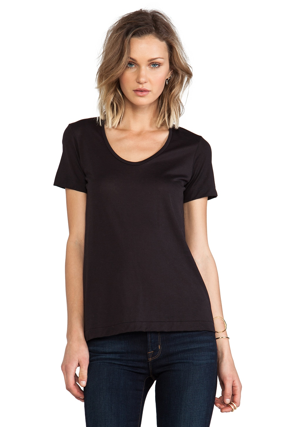 Theory Chamblee Tee in Black