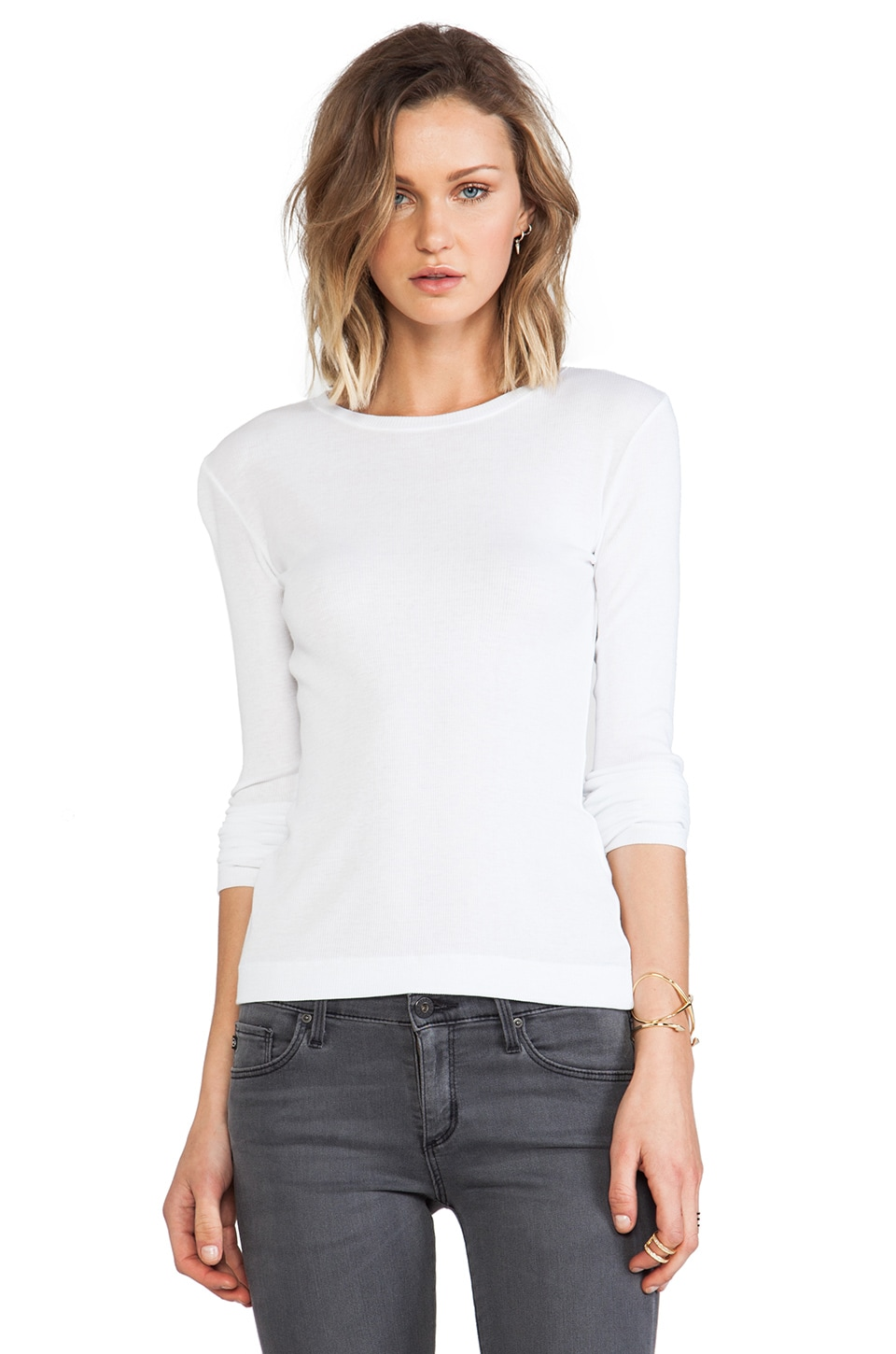 Theory Kanitta Long Sleeve Tee in White