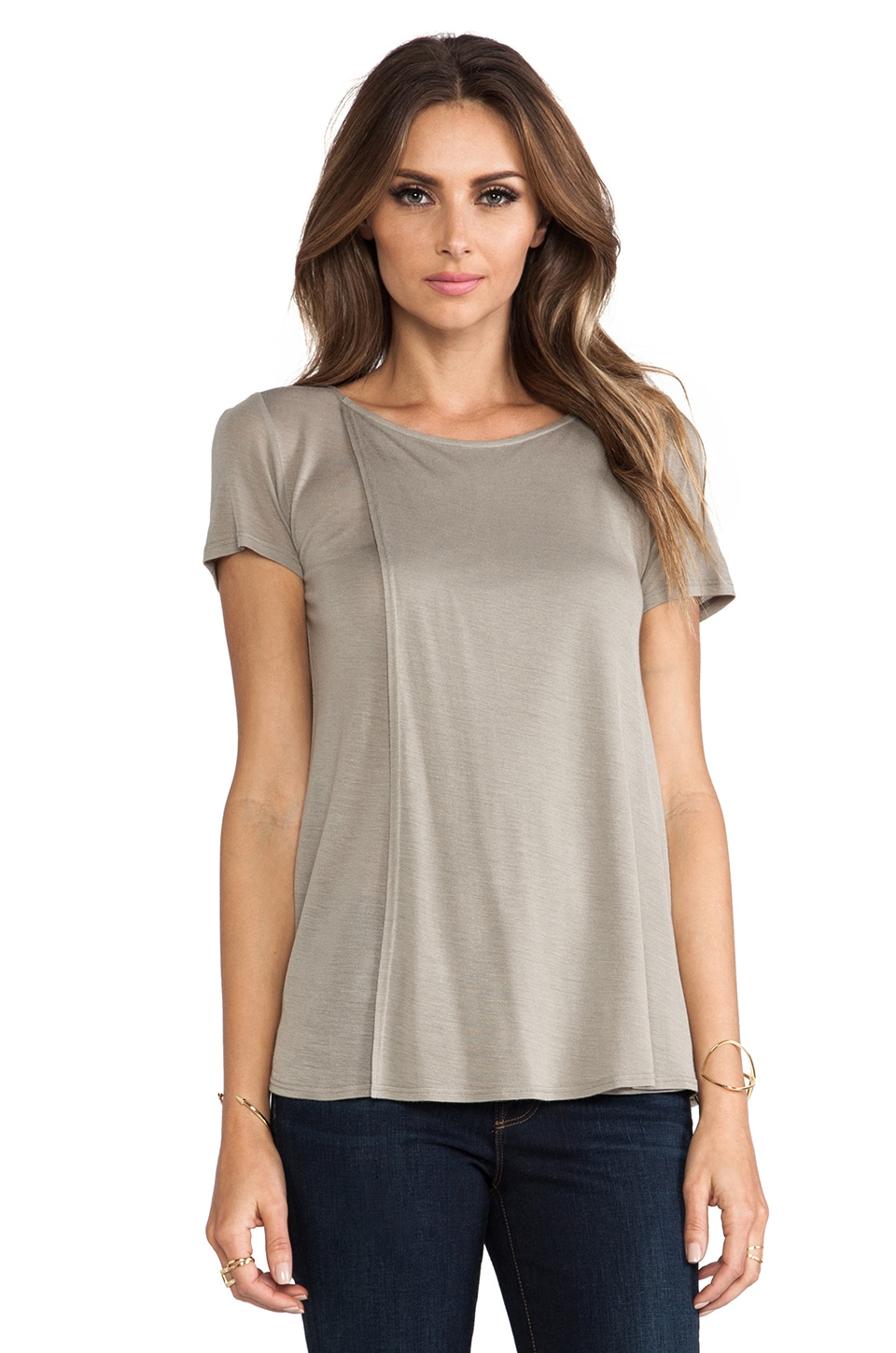 Theory Newnan Tee in Light Sage