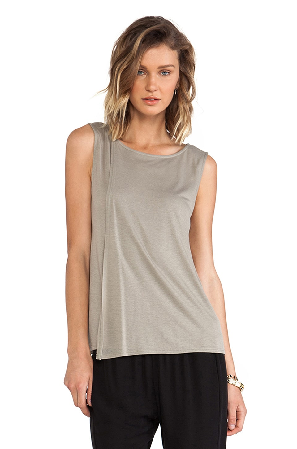 Theory Maidena Tank in Light Sage