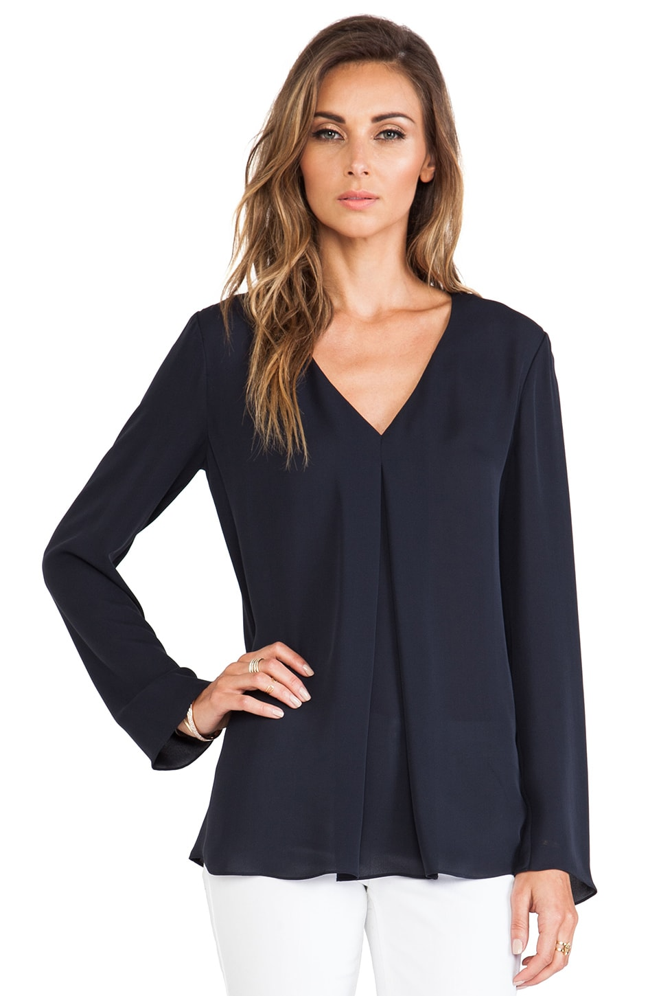Theory Trent Blouse in Uniform