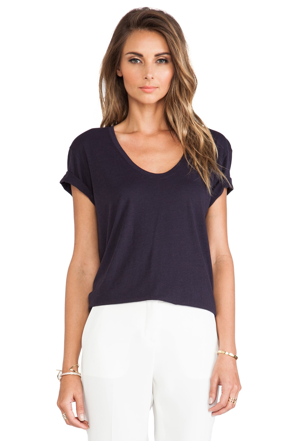Theory Bianata Top in Midnight