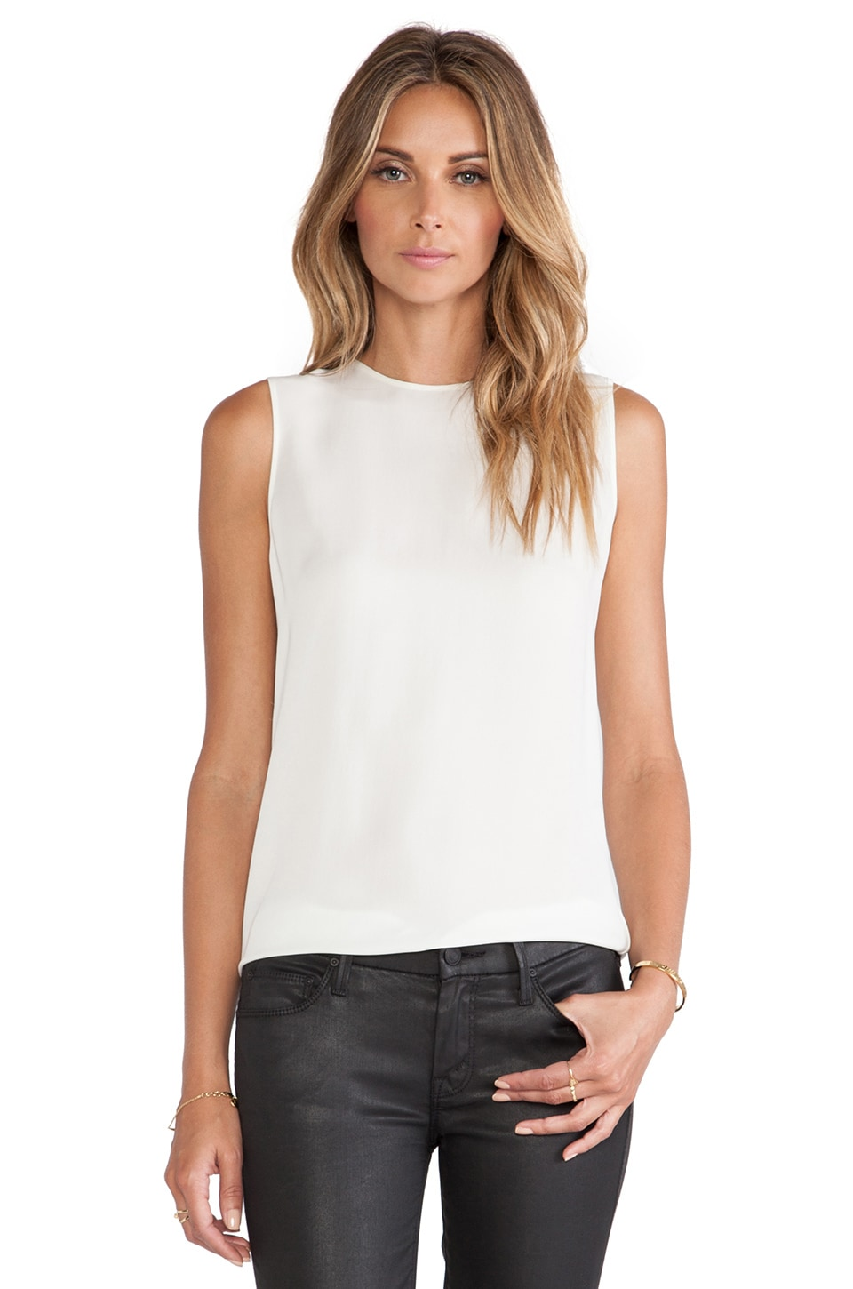 Theory Bringham Tank in Ivory