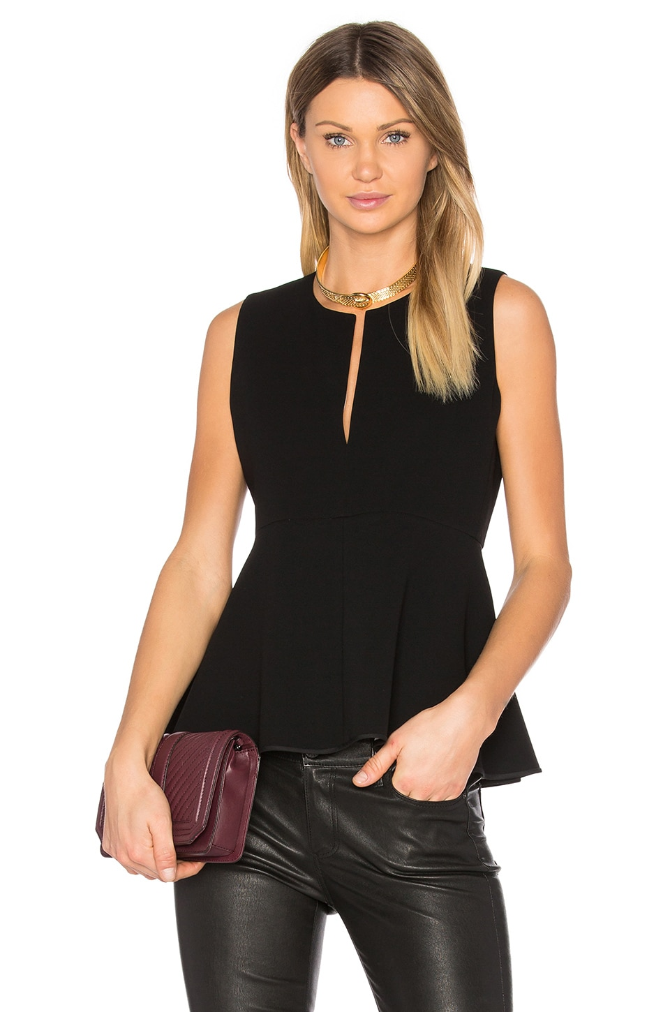 Ralnaka Double Crepe Tank by Theory