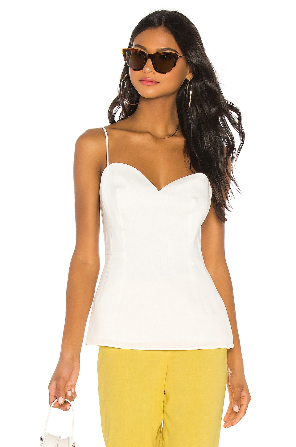 Theory Sweatheart Top in White