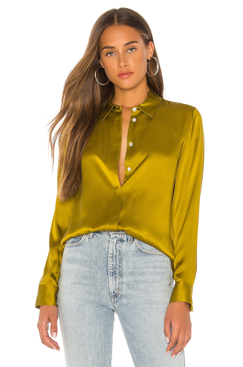 Theory Classic Straight Top in Citron