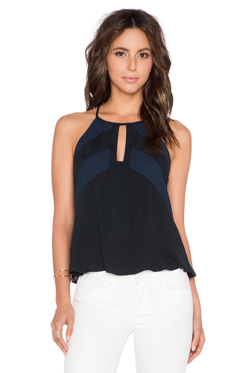 Three of Something Gateway Lawn Cami in Navy