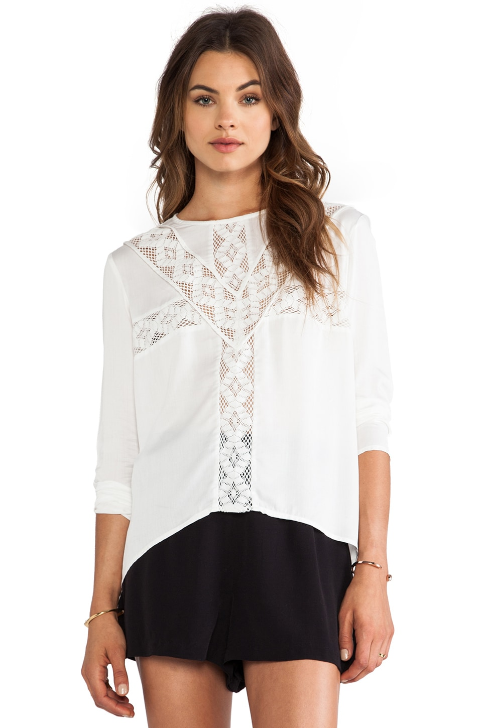 Three of Something Tallgrass Blouse in White