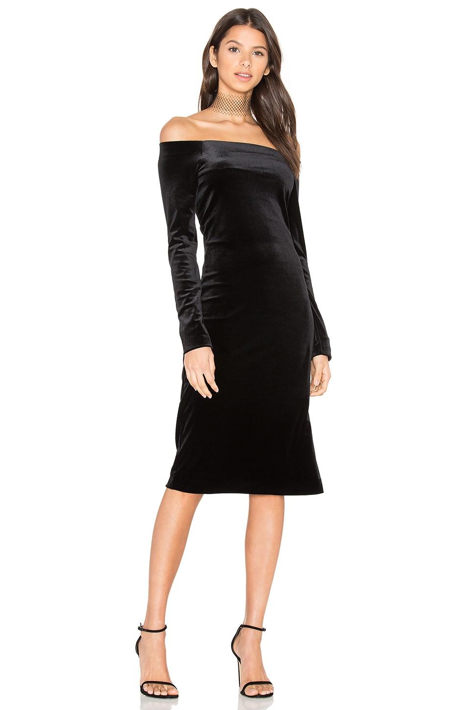 Velvet Off Shoulder Dress by three dots