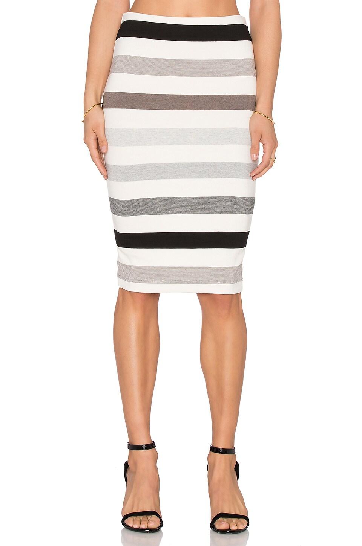 three dots Sasha Midi Skirt in Natural Combo