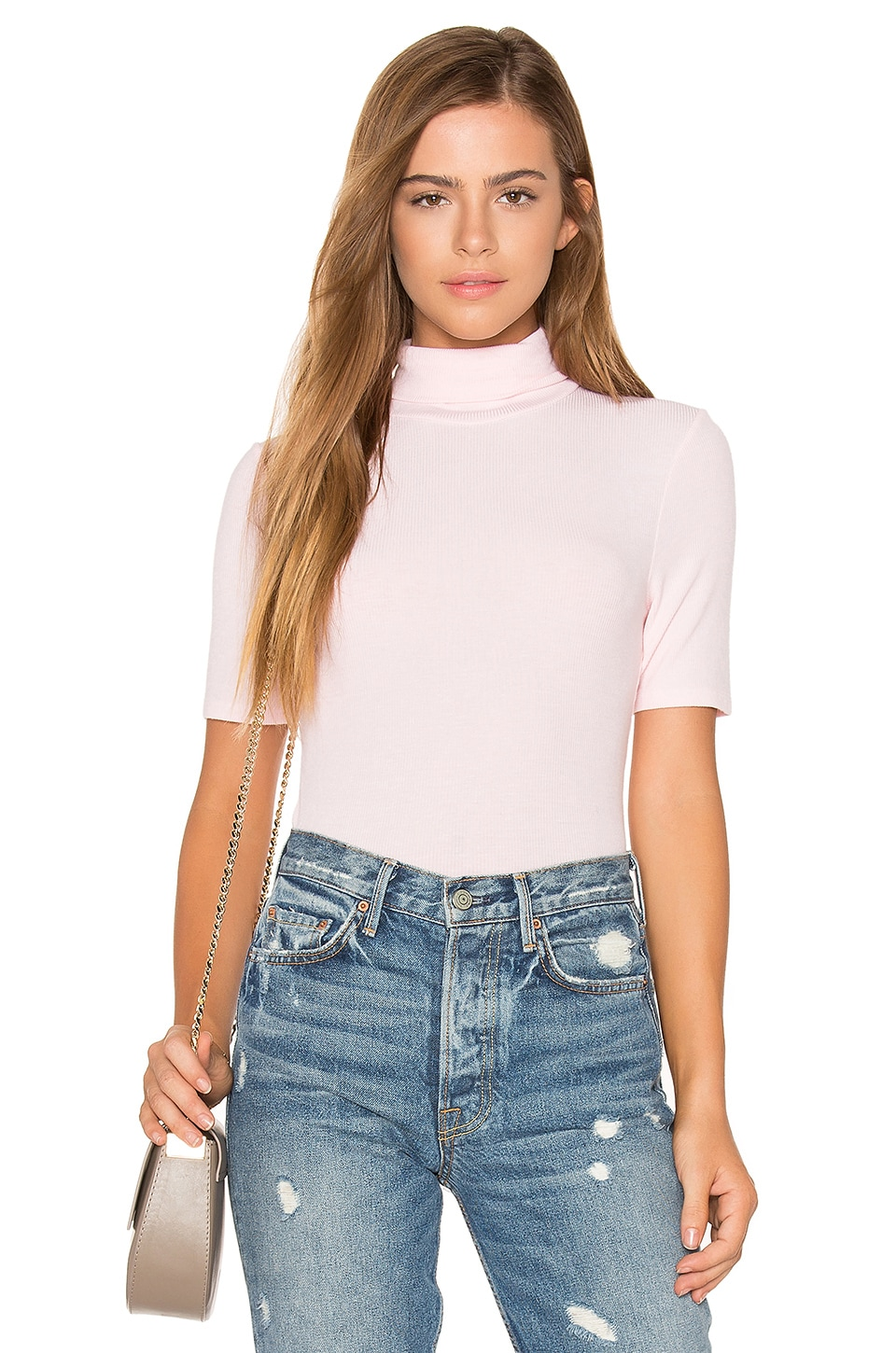Short Sleeve Turtleneck Top by Three Dots