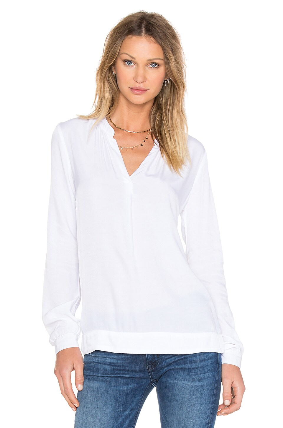three dots Katherina Blouse in White