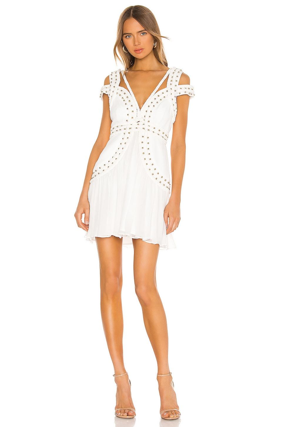 THURLEY X REVOLVE Mood Crest Mini Dress in Ivory