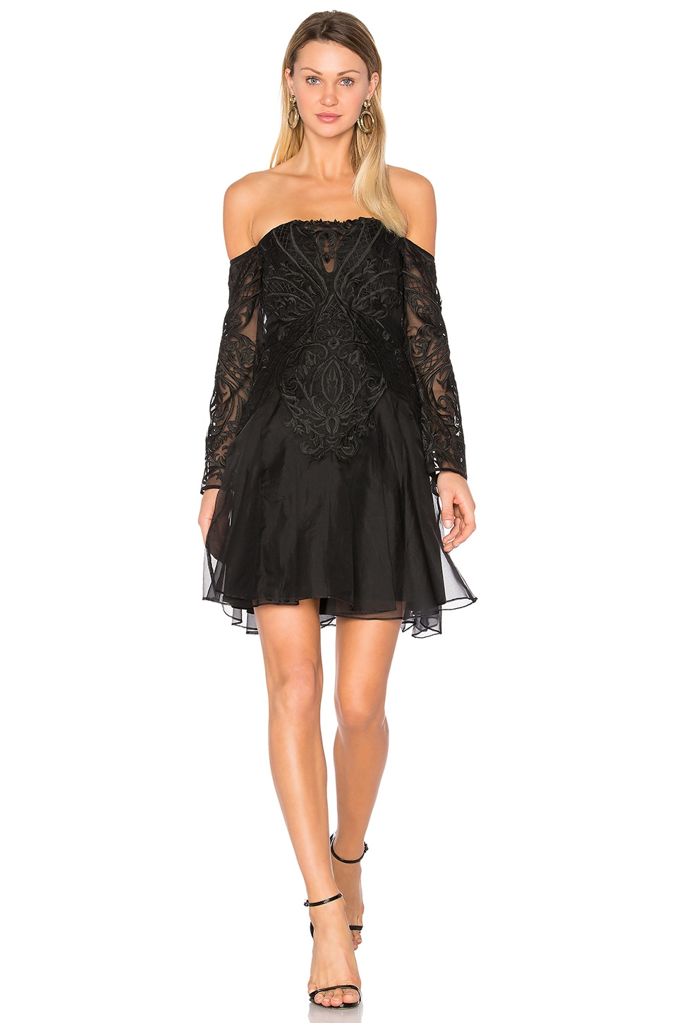 THURLEY Spanish Steps Dress in Black