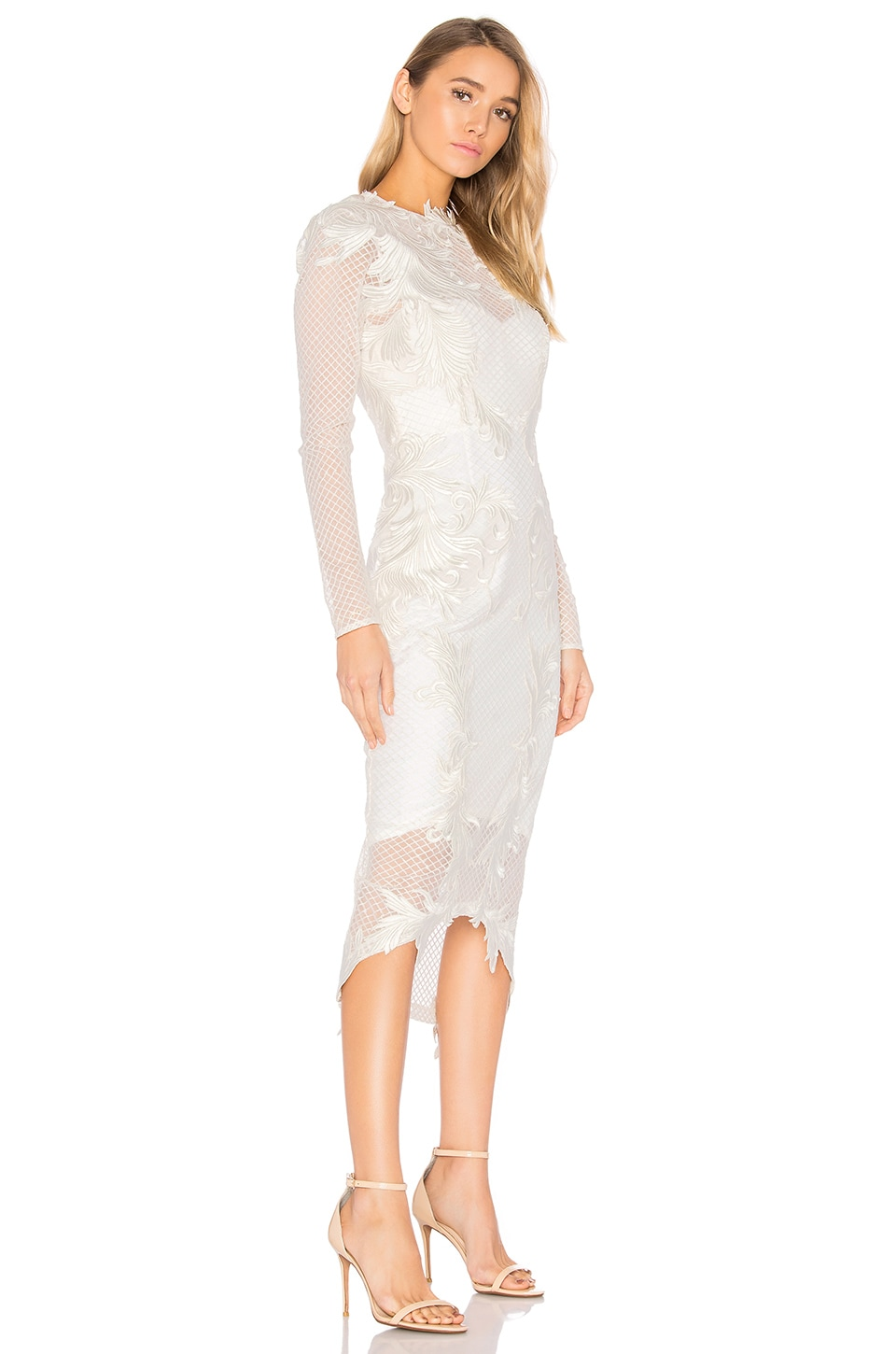 THURLEY Chariot Midi Dress in Ivory