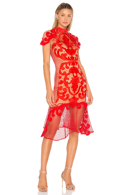 Rose Ceremony Midi Dress