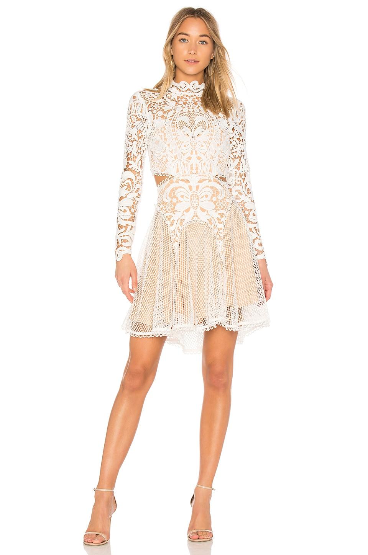 THURLEY Enchanted Garden Mini Dress in Ivory | REVOLVE