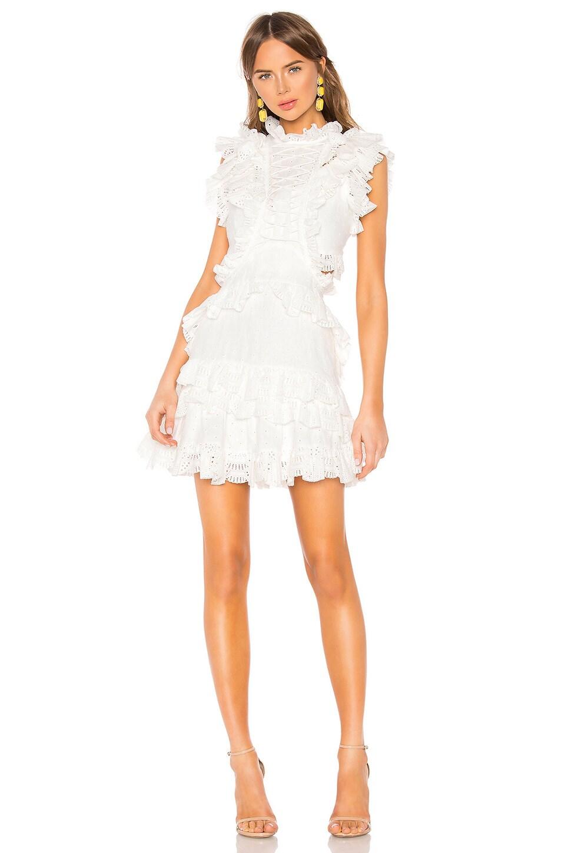THURLEY Seven Seas Mini Dress in Ivory
