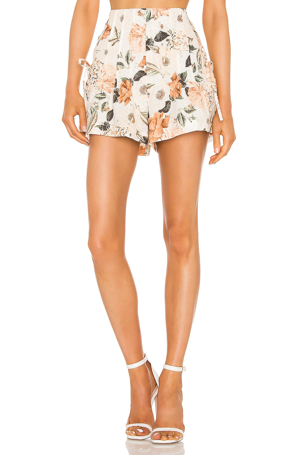 THURLEY Maya Short in Eden Floral Ivory
