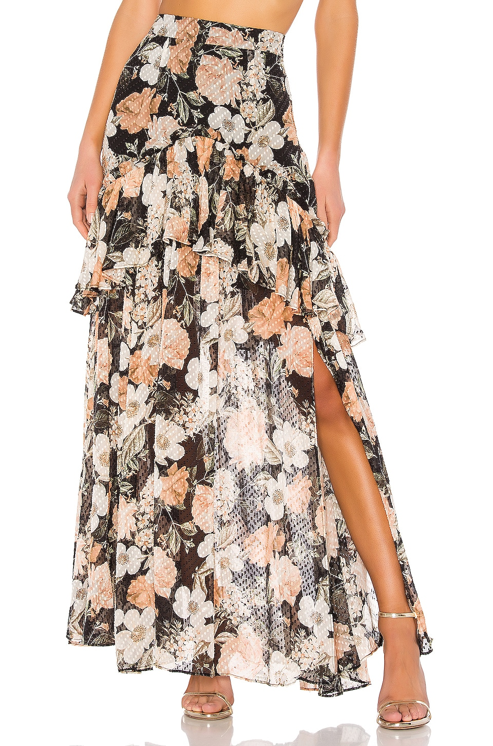 THURLEY Tiamo Skirt in Eden Floral & Summer Black
